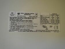 1972 BUICK GRAN SPORT GS SPECIAL CENTURION 455 4BBL ENGINE EMISSIONS DECAL NEW