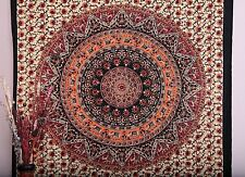 Indian Boho Round Mandala Psychedelic Wall Hanging Tapestry Throw Ethnic Decor