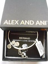 Alex and Ani MERMAID Expandable Wire Bracelet Rafaelian Silver NWTB&C