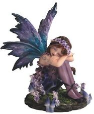 4.25 Inch Sleeping Fairy Blue Statue Figurine Figure Collectible Magic Fantasy