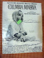 VINTAGE - COLUMBIA-MINERVA BOOK 728 - QUICK-KNIT BABY BOOK - 6 MOS-3