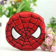FD3602 Children Kawii Red Spyderman Plush Coin Wallets Purse Key Bag Gift 1pc♫