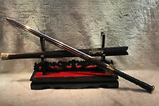 "HANDMADE HIGH QUALITY CHINESE SWORD ""HAN JIAN ""(劍)RED PATTERN STEEL BLADE#3009"