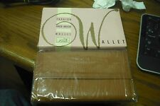 Vintage New Sealed Lady Ronte Fashion Check Writer Wallet Brown AW12961  B0005