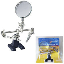 Quality Hand-Free Magnifier Helping Hand Marksman Glass Crocodile Metal Stander