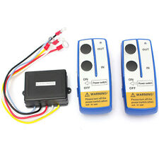 2x Wireless Winch Remote Control Twin Handset 12 V Volt 50ft Easy To Install HOT