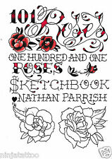 110 Roses Sketch Book Flower Tattoos ART LOT design flash floral Nathan Parrish