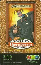 RARE / CARTE TELEPHONIQUE PREPAYEE - FAMILLE DELAJUNGLE / THE WILD THORNBERRYS
