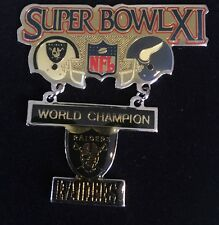 Large 2-piece Super Bowl XI World Champion Oakland Raiders Vs Vikings