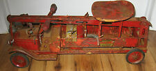 Vintage 1920's Keystone pressed steel Water Tower Ride on Fire truck Antique