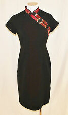 Chic Robbie Bee Black Oriental Inspired Evening Formal Cocktail Party Dress 6P