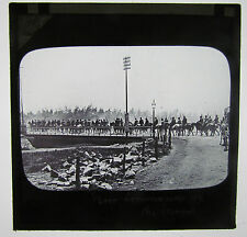 BOER COMMANDO ON THE MARCH  Boer War Antique Magic Lantern Military  Glass Slide