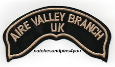 Harley Davidson HOG AIRE VALLEY BRANCH UK Small Patch New! FREE U.K. POSTAGE!