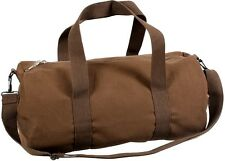 "EARTH BROWN Canvas Sports Gym Duffle Carry Shoulder Bag & Strap - 19"" 2231"