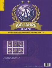 ÖSTERREICH - 2011 FUSSBALL FK AUSTRIA WIEN MARKENHEFT 2913 MH 0-6 ** - SELTEN