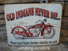 INDIAN MOTORCYCLE OIL CAN SIGN GAS STATION DISPLAY STORE SIGNS NEW