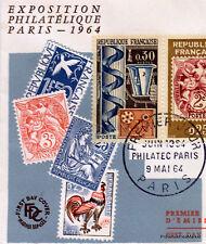 Yt1414 PHILATEC PARIS 1964  FRANCE  FDC Enveloppe Lettre Premier jour