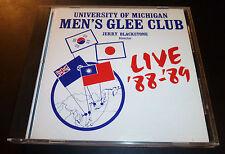 "University Of Michigan U-M MEN'S GLEE CLUB ""Live '88-'89"" (CD 1989) Blackstone"