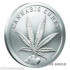 2016 CANNABIS CURES 1OZ BU .999 - SILVER SHIELD - SBSS *IN-HAND* RARE & HOT ART