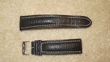 Breitling Leather Watch Strap (22-18-120mm, Black - 818X