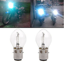 2x ATV Moped Scooter Head Light Bulb Motorcycle 12V 35W 10A B35 BA20D Glass New
