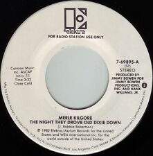 MERLE KILGORE Night They Drove Dixie Down ((**NEW-UNPLAYED 45 DJ**)) from 1982