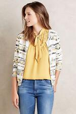 NEW ANTHROPOLOGIE Size 14 Womens Luca Tie-Neck Blouse Yellow Gold LaLangston NWT
