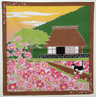 Japanese wrapping cloth FUROSHIKI -Tama in Autumn (Cat&Cosmos) /tapestry