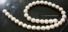 Antique white matrix 37 treated magnesite 12mm round shaped beads 16 in bs071