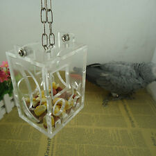 Parrot Bird Cage Feeder Hang Foraging Toy For Pet Treat Hunt Macaw Cockatoo ES