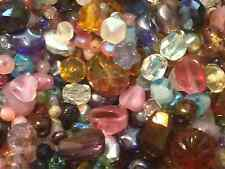 1/2 lb Bulk Quality Glass & Gemstone Beads Mixed grab bag jewelry making
