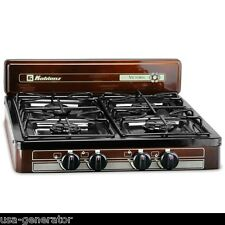 Propane Stove 4 Burner LP Gas Grill Camping Backyard Cookout RV Outdoor NEW