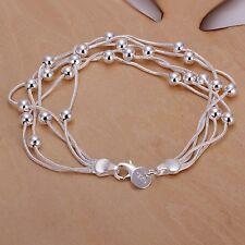 """Women's Unisex 925 Sterling Silver Bracelet 8"""" L21"""