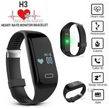 H3 Bluetooth Smart Watch Wristband Bracelet Pedometer Fitness Heart Rate Monitor