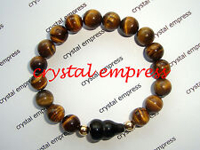 Feng Shui - Tiger Eye with Black Obsidian Wu Lou Kids Bracelet