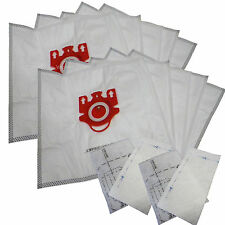 10 Bags for Miele FJM Synthetic Vacuum Cleaner Bag + 4 Filters DVC