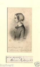 FLORENCE NIGHTINGALE Signed Sketch - Pioneer of Nursing