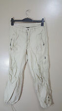 H&M L.O.G.G SPORTS LADIES CARGO CREAM TROUSERS - -EURO 38-US 8