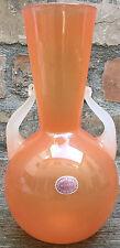 Archimede Seguso alabastro Orange precoce 50er anni MURANO VETRO VASO ORIG. LABEL