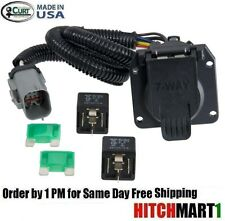 CURT TRAILER HITCH WIRING 7 WAY PLUG FOR 1999-2001 FORD F250 SD w/ FACTORY 4WAY