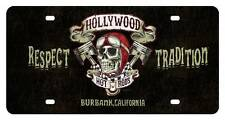 Hollywood Hot Rod Shop License Plate Metal Sign Man Cave Garage Club HHR017