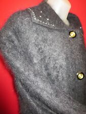 ~ Soft & Fuzzy Furry 90% Angora Sweater sz XL (furry lovers cardigan coat)