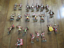 Lot 22 Vintage 1960s Hard Plastic Figures Romans Hong Kong 2 1/2 1/32 54mm (t)