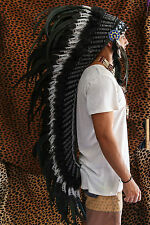 INDIAN HEADDRESS AMAZING FEATHERS Chief War bonnet Costume Native American