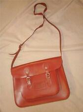 SUPERB RED BROWN LEATHER SCHOOL SATCHEL.