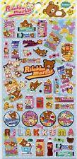 San-X Rilakkuma Relax Bear Sticker Sheet #26 (Rilakku market)