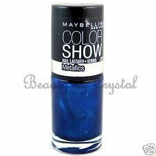 Maybelline Color Show Nail Lacquer Polish Metallics- NAVY NARCISSIST 100 Blue