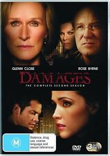 Damages Season 2 DVD, 2009, 3-DiscR4*Glenn Close*New & Sealed*