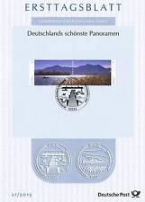 BRD 2015: Der Chiemsee! Ersttagsblatt mit einem Paar der Nr. 3162+3163! 1A! 159