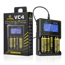 XTAR VC4 LCD Screen USB Battery Charger For AA AAA C D  18650 14500 16340 26650